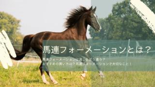 馬連フォーメーション